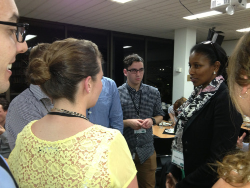 Worst photo ever of best dinner companion ever Ayan Hirsi Ali. Living proof of that if you free your mind your arse will follow