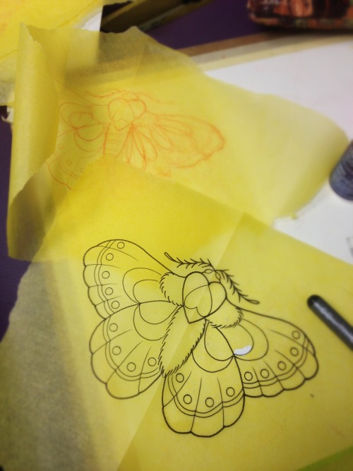 Girly mothy moth fun today over at Hartless Tattoo Co, come by and say hi!