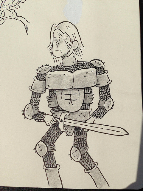 Warrior doodle. on Flickr.