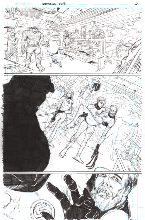 ‎5th and final page of my Fantastic Four samples.