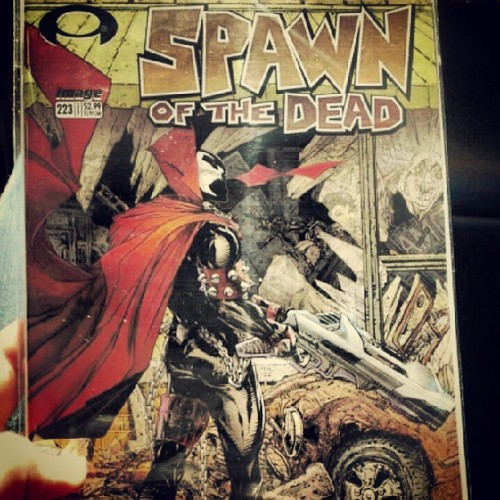 Got the coolest issue of spawn. Its a cover varient that is supposed to look like the first issue of walking dead.