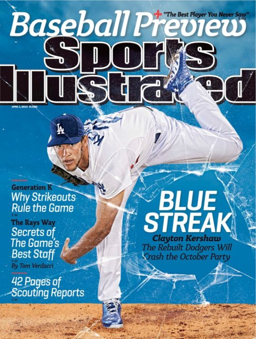 Sports Illustrated has six regional covers for this week's baseball preview issue.  The cover boys are all hurlers, three lefties and three righties. They are: Justin Verlander of the Tigers, C.C. Sabathia of the Yankees, Stephen Strasburg of the Nationals, David Price of the Rays, James Shields of the Royals and Clayton Kershaw of the Dodgers.
