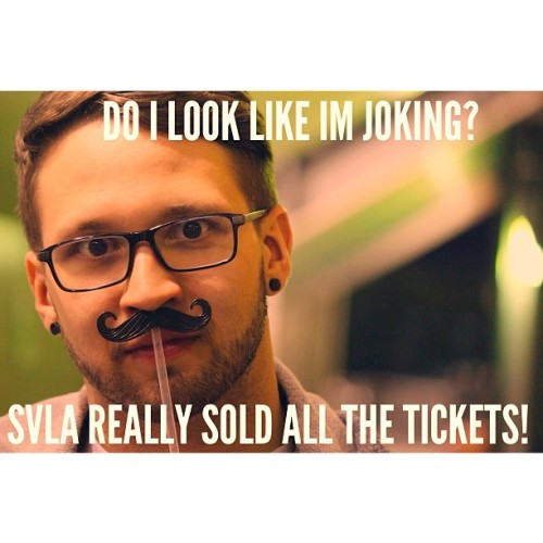Can't you tell? He's serious. #SVLA #heroesforsale #zerothehero #andymineo #unounoseis