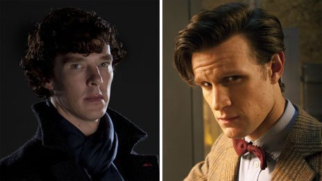 "BBC News - Sherlock and Doctor Who head to head at National Television Awards  Sherlock and Doctor Who are up against each other for two prizes at the National Television Awards this month. The shows - both run by writer and producer Steven Moffat - are up for best drama, along with Downtown Abbey and Merlin. Doctor Who star Matt Smith and Benedict Cumberbatch, who plays Sherlock, are in the running for the best actor prize. Winners will be announced at London's O2 Arena on 23 January. Moffat said: ""Well this is very flattering, but also terrifying. I hope everyone votes with tremendous care and the result is an exact draw between both shows."" Karen Gillan, who bowed out last year as the Doctor's companion Amy Pond, is nominated for the best female drama performance. She is up against comedy star Miranda Hart for her role in Call The Midwife, Suranne Jones for Scott and Bailey and Sheridan Smith for Mrs Biggs, in which she played the wife of Great Train Robber Ronnie Biggs. In the best male drama performance category, Smith and Cumberbatch are up against Colin Morgan, the star of Merlin, and Daniel Mays for his performance as Ronnie Biggs in Mrs Biggs."