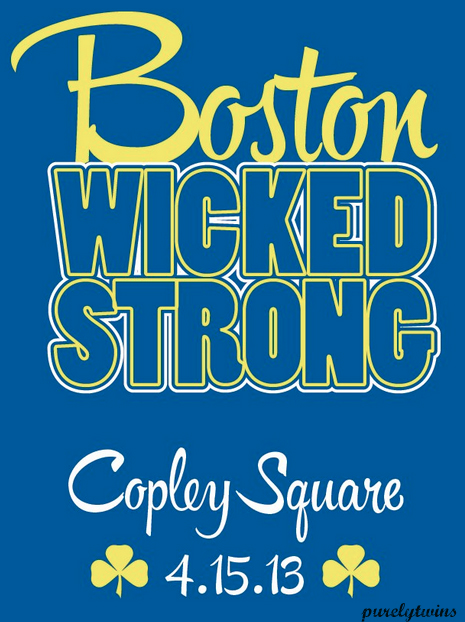 "pittperseverance:  Boston IS Wicked Strong!! I forget the origin of the ""word' wicked but anyone who has Massachusetts relatives or knows people from that region has heard them use this word.  It is unique as is this region of the country that has experienced so much misery lately with Newtown and now the Boston Marathon bombings. As the situation unfolds, below is what I had prepared this week after the horrific news Monday afternoon. When I heard about the bombings, one of my first thoughts was that the time of the explosions occurred when the many people who run the marathon for charitable organizations would be finishing the race.  What a terrible tragedy to impact people who likely were doing an unselfish act by raising funds for a charity. These people who run the race and raise money typically have a family member or friend who suffered from cancer, alzheimer's, cystic fibrosis and list goes on.  They are running and raising money to bring awareness for these causes and in hopes that these diseases will be cured or to help those who suffer from the effects of a disease or tragedy are given help or comfort. Boston will learn to get back to its normal life and it will thrive.  Anyone who has been to Boston realizes how special of a city it is .  It is a resilient town!  I have been to over 37 states and numerous cities in our great country.  When people ask me my favorites I always say Boston is one of my favorites and I usually add, ""Springtime in Boston"".  You should do yourself a favor and visit Boston in the Spring.  The college students come out of their dorm rooms and can see the end of a long school year.  Those who work in the investment management or insurance industries take longer walks for lunch.  You can feel the life of this city in these months.  The historical landmarks of Boston and our country are apart of the city and easily accessible.  You can visit the Old North Church, do business on Beacon Hill or walk through the Boston Common.  In the Summer, you can drive to one of our other national treasurers, Cape Cod which has some of the most quaint beach towns.  Some of my cousins were born on the Cape and we have had numerous fun and memorable family vacations to this wicked area.  Sports is so important to its residents and fans.  They identify with their Celtics, Red Sox, Bruins and Patriots. Boston and Pittsburgh has enjoyed a good rivalry in sports, maybe not to the heights of Boston and New York, but still a rivalry.  I have been lucky to attend a game at the old Garden and for a few minutes, I just stared at the banners.  It really was incredible sight for any sports fan! Boston will go on and thrive!  It's great restaurants in the Back Bay such as Lucca's will continue to be vibrant with Boston residents and visitors.  The historical landmarks will remind us of the birth of a great country and hopefully put us in touch with the ways to keep the USA great! I am sure I will see Boston again soon. Next year's Boston Marathon will be the largest ever. It will occur on April 21, 2014.  I will reach 30 years from my cancer diagnosis earlier that month.  Maybe I'll celebrate at that Marathon like I celebrated graduating with my MBA in April 1994, also my 10 year survivor mark, with a trip to Boston and the Cape!  I have to close with the words of that wonderful little boy Martin Richard who was killed in those explosions while he was, unselfishly, cheering the runners.  A picture released of Martin says, ""No More Hurting People.  Peace""! No More Hurting People!  Peace!"