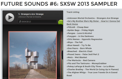 Not a downloadable mix but you can check Future Sounds favorite sxsw picks on their spotify playlist!  If you don't have spotify - download it! it's freeeeeeee.