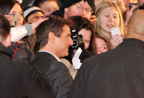 "Tom Cruise på galapremiär i Stockholm av ""Jack Reacher""."