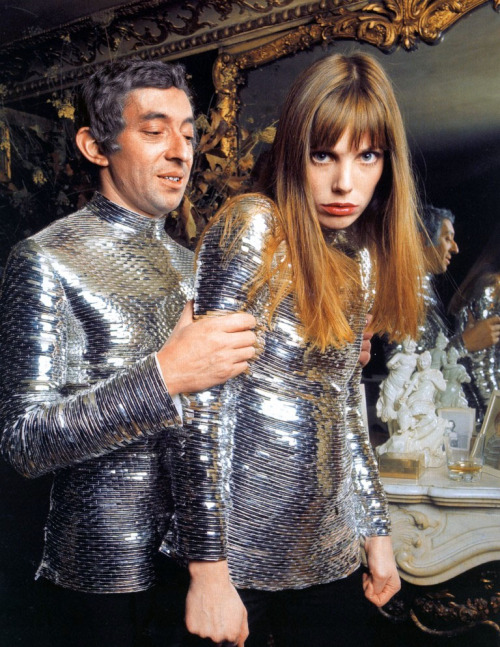 Serge Gainsbourg & Jane Birkin by Nicolas TikhomiroffParis, 1969; wearing Cerruti