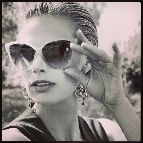 Another lovely shot of Brooke Burns in the Royal Earrings!