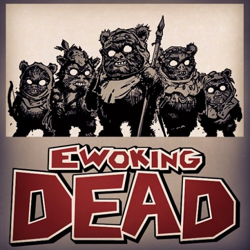 #EwokingDead! #teeoftheday #starwars & #walkingdead #mashup! #nerd #geek #tee #tshirt #fashion #twd #ROTJ #TheWalkingDead #Endor #Dixon #Ewok #TheEwokLine #EwokAppreciation #YayEwoks #BooEwoks #Zombies #LivingDead #Horror #Humor