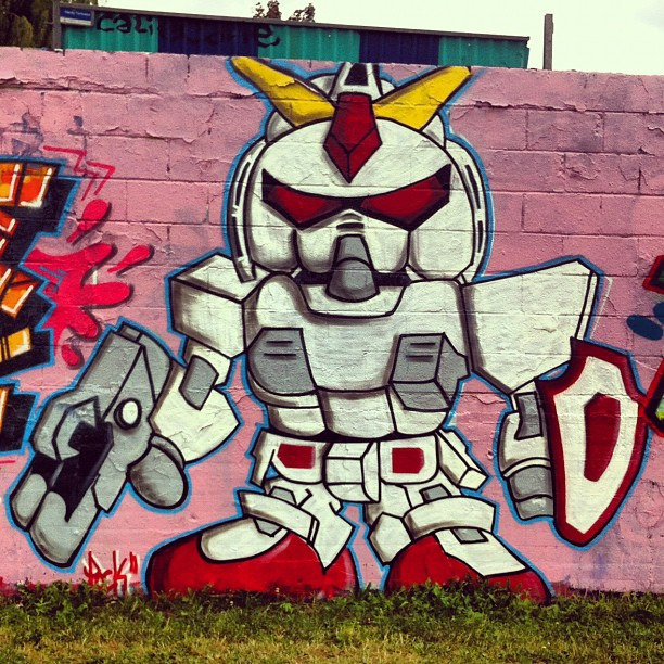 Daily Graffiti Gundam graffiti spotted by ijustdontknow. Check out our Daily Graffiti Archives for more geektastic street art! Add your geeky graffiti pics to our Group Pool on Flickr!
