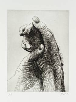 blue-voids:  Henry Moore - The Artist's Hands, 1979
