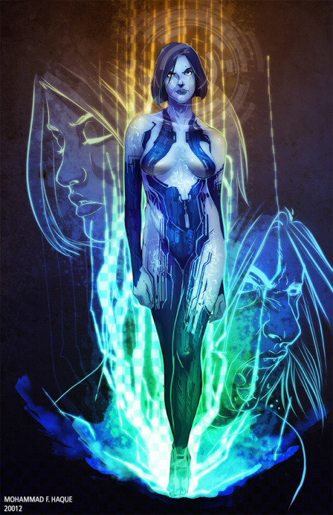 gamefreaksnz:  Cortana - by Mohammad F. Haque Artist: Tumblr || Behance || Twitter