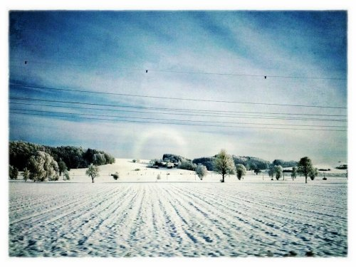 Winter landscape#android #androidography #fotodroids #galaxynexus #landscape #snow #winter #germany #snapseed #sky(from @manganite on Streamzoo)