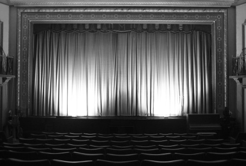 chrisvanderwees:  Mayfair Theatre Curtain / Bank Street / Ottawa, ON.Fujifilm Finepix X100.December 2012.