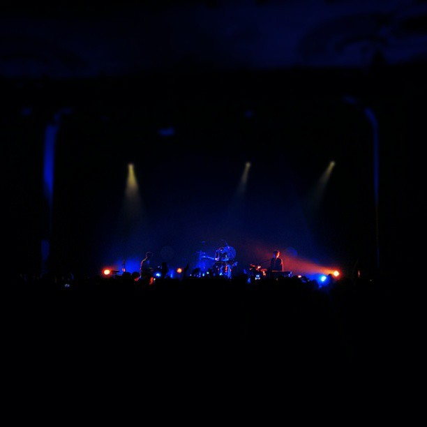 Kids these days with their portable smoke machines. #jamesblake (at The Music Hall)