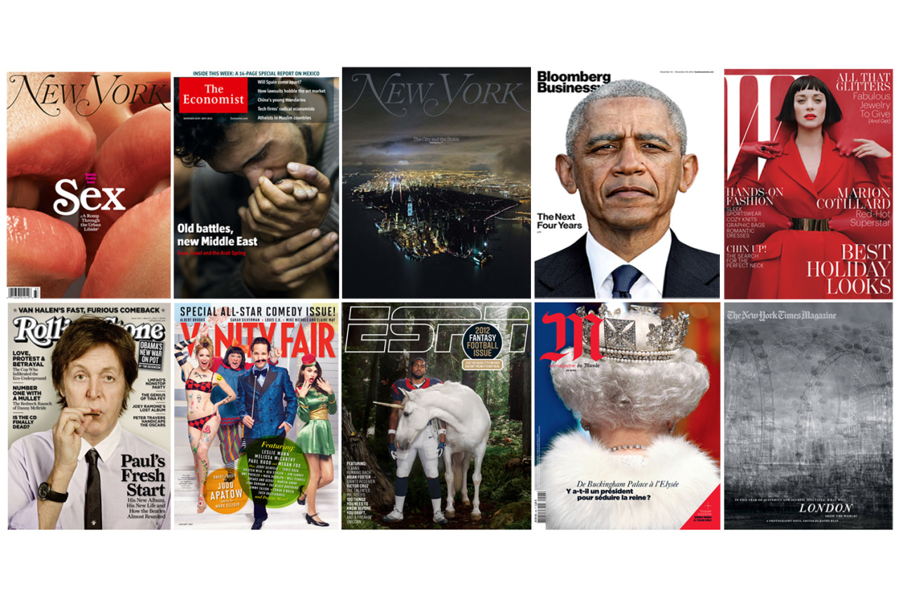 The best photographs don't always make the best covers. Here, TIME presents our picks for the top 10 photographic magazine covers of 2012.