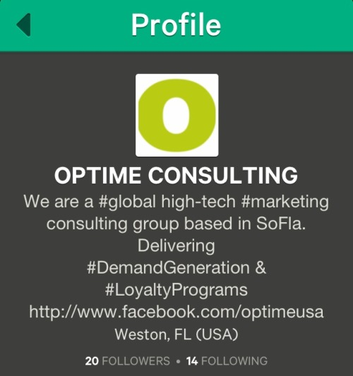 Are you on Vine? We love this cool new social platform! Follow us @OptimeConsulting and tell us what you think!