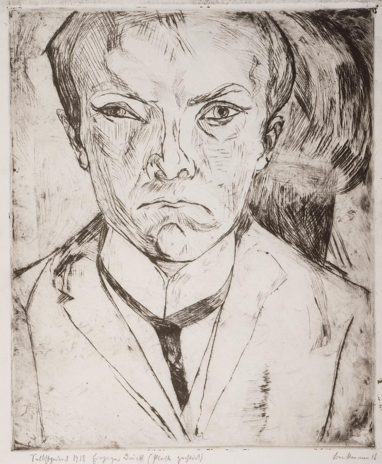 "philamuseum:   ""Self-Portrait,"" 1918, Max Beckmann © Artists Rights Society (ARS), New York/VG Bild-Kunst, Bonn http://www.philamuseum.org/collections/permanent/52553.html"