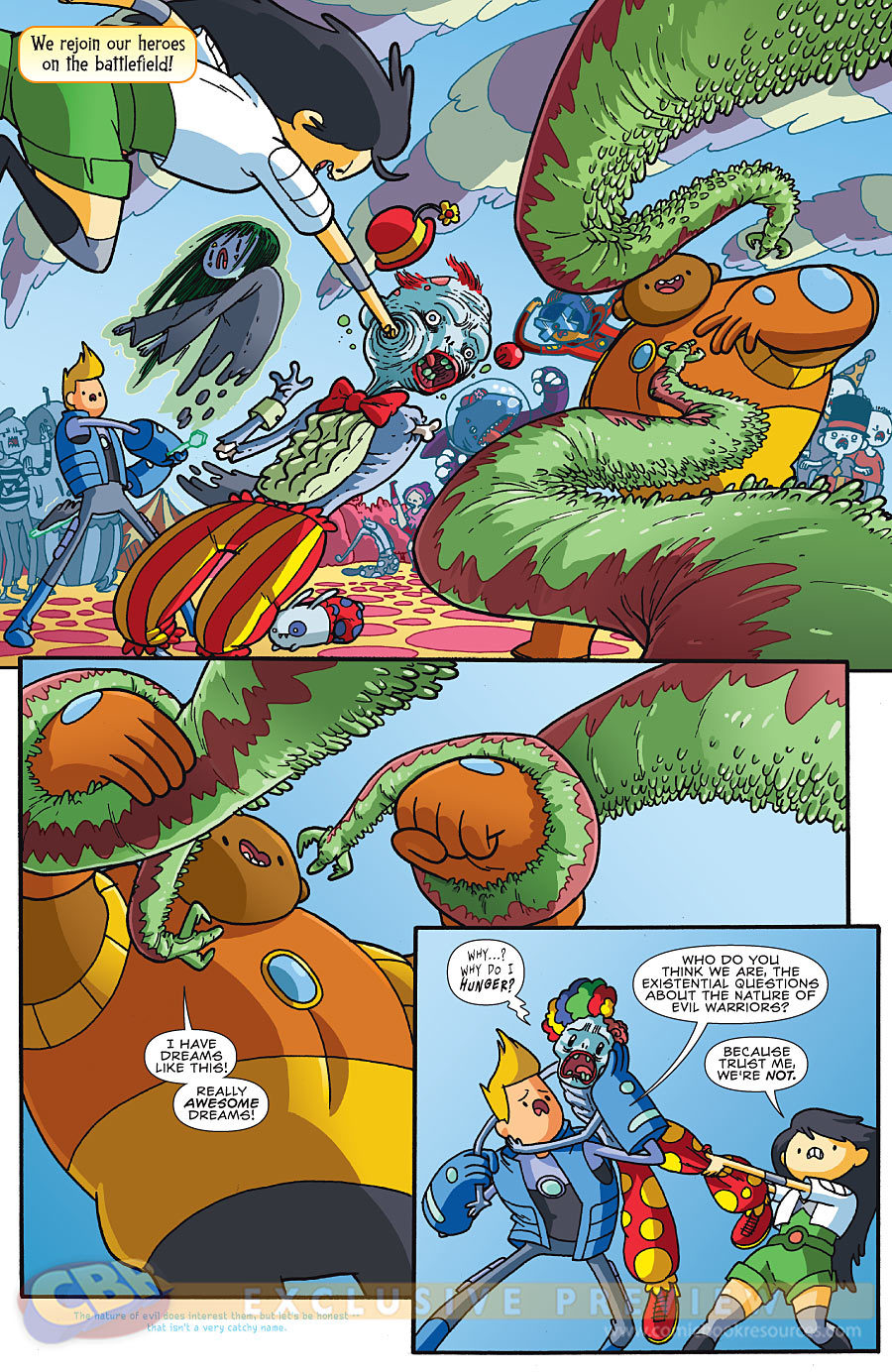 Comic Book Resources has a 6-page preview of Bravest Warriors #3, due next Wednesday!