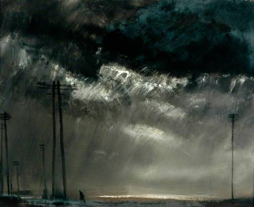 2headedsnake:  Theodore Major (1908-1999) 'Dark Sky at Wigan'