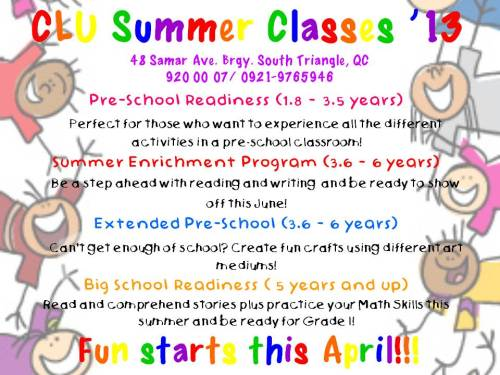Keep your kids, siblings, nieces, and nephews busy this summer! Enroll them in our fun SUMMER CLASSES '13!!! :) CONTACT US FOR MORE INFO :)
