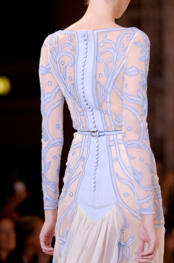 game-of-style:  Sansa Stark - Temperley London spring 2013 - submitted by unlike-icarus  ooooh the colors. the buttons. the translucence.