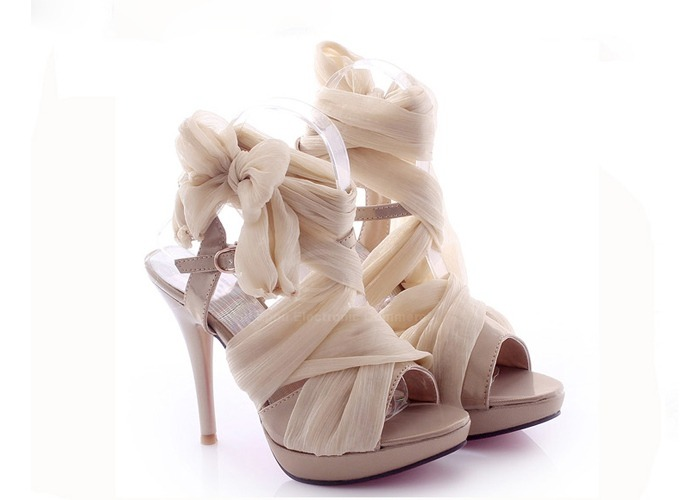 ohlaloove:  Party Women's Summer Sandals With Silk and Stiletto Heel Design