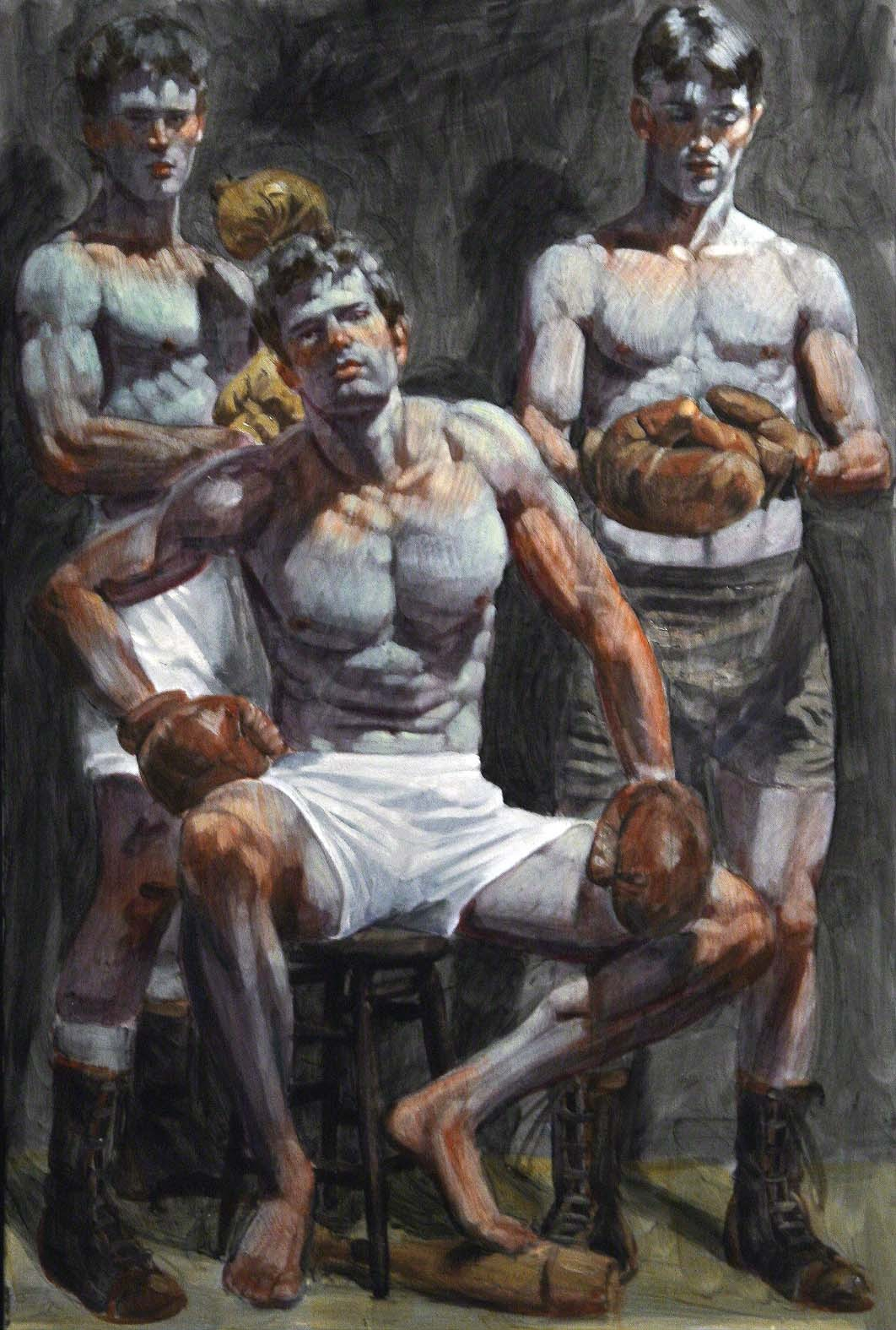 Three Boxers By Bruce Sargeant