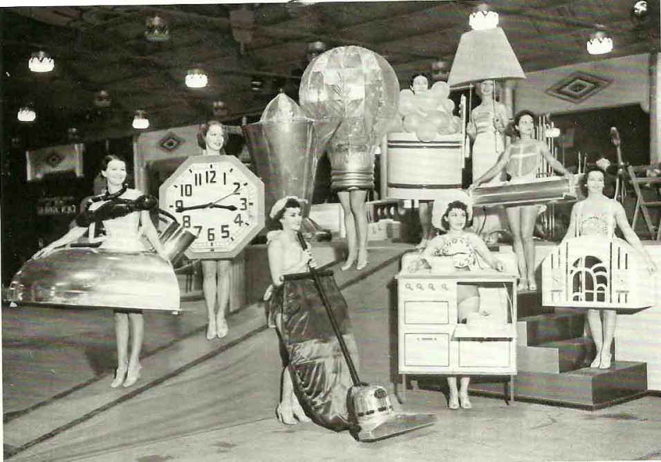 Girls Dressed as Appliances at the Los Angeles Electrical Exposition, 1936