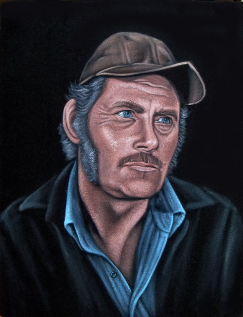 "Quint 14"" x 18"" acrylic on velvetSOLD commission"