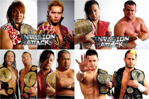 "[NJPW News] New Japan announced the full card for the upcoming INVASION ATTACK iPPV for April 7th as well as the lead-in show that will be held on April 5th.Following his win on March 24th, Kazuchika Okada has once again laid down a claim to another tournament win with the NEW JAPAN CUP, and also the right as the youngest to ever do so (an honor he already held with his victory in the 2012 G1 Climax). Okada has earned himself another title opportunity against the reigning IWGP Heavy Champion in Hiroshi Tanahashi. Of course, Okada already headlined the Tokyo Dome on 1.4 in a losing effort to Tanahashi, though following his win the NJC he appears to have a new found sense of purpose.The event will be headlined with 2 other title matches with Shinsuke Nakamura looking to defend the IWGP IC against the other half of K.E.S. in Davey Boy Smith Jr. This will mark Nakamura's 7th defense with the belt as he aims to continue on with his breakthrough reign. First though Nakamura will be going after K.E.S. and their tag team titles as he teams with Tomohiro Ishii on April 5th. Of course this match will be a continuing of the CHAOS vs. Suzuki-gun war.Following the news of Bruce Tharpe, President of the NWA, stating that he is bringing over a wrestler to compete in NJPW. Satoshi Kojima was the first to challenge the incoming wrestler which has been determined to be the newly crowned NWA Heavyweight Champion, ""Iron Man"" Rob Conway. Conway has been competing for over 15 years now and is looking to leave his mark in Japan and gain a strong defense as champion in the process.Yuji Nagata & Hirooki Goto will be joining forces to take on the Laughter7 duo in Kazushi Sakuraba & Katsuyori Shibata. This could potentially be the toughest challenge for Laughter7 yet as there is a lot of history between each man involved. Will Nagata finally be able to pull out a win, with Goto, against the invader team or will Laughter7 once again prove to have fate on their side?Minoru Suzuki will be looking for revenge against Toru Yano following the 2nd round match of the NEW JAPAN CUP in which Yano walked away with the controversial victory. CHAOS and Suzuki-gun have had nothing but animosity towards each other all throughout this year and ""the ultimate invader"" Minoru Suzuki will not sit back and let a loss, let alone a ""cheap"" loss, loom over him. The two will meet in a tag match before the ppv on April 5th, as Suzuki will be teaming with close friend Yoshihiro Takayama as they face the current (NOAH) GHC Tag Champions, Yano and Takashi Iizuka. Takayama of course will be teaming with KENTA in NOAH's upcoming GLOBAL TAG LEAGUE tournament and will this could become an early look at a possible outcome if KENTA & Takayama managed to win the tag league.Tomoaki Honma made his surprise return to New Japan in the form of support for Togi Makabe following another attack from Yujiro. The duo use to form G.B.H. (Great Bash Heel) in years prior, but after Honma left NJPW last year Makabe has found himself primarily on his own. No word yet if G.B.H. has truly reformed, but Makabe could really use the aid as they are set to take on Masato Tanaka & Yujiro Takahashi.Tama Tonga will be defending the CMLL World Tag belts, along with Terrible, against La Mascara & Valiente. NJPW has built a strong relationship with CMLL in the last several years and New Japan is yet again giving a platform for the ""lucha libre"" style to showcase itself.Prince Devitt will have a heavy few days in front of him as he will be defending his IWGP Jr. belt against Alex Shelley on 4/5 and then on 4/7 the two will be involved in the IWGP Jr. Tag match. As the reigning champions ""TIME SPLITTERS"" KUSHIDA & Alex Shelley will defend against ""Apollo55"" Prince Devitt & Ryusuke Taguchi. Devitt has been on edge over the last month and has been showing plenty of ""heel attitude"" like tendencies against his opponents. With a huge challenge set before him, will Devitt's new persona manifest itself over these two shows, or will it prove to have been nothing more than Devitt just looking to blow off some steam.Below are the event cards for the upcoming shows in April.New Japan Event Cards for March & April 2013http://www.puroresuspirit.com/2013/03/03/new-japan-event-cards-for-march-april-2012/———————————————————-New Japan Pro Wrestling ""Road to INVASION ATTACK"", 4/5/2013 [Fri] 18:30 @ Korakuen Hall in Tokyo(1) Road to INVASION ATTACK I: Ryusuke Taguchi vs. KUSHIDA(2) Road to INVASION ATTACK II: Yuji Nagata & Hirooki Goto vs. Manabu Nakanishi & Captain New Japan(3) Road to INVASION ATTACK III: Togi Makabe, Hiroyoshi Tenzan & Satoshi Kojima vs. Yujiro Takahashi, YOSHI-HASHI & Jado(4) Road to INVASION ATTACK IV: Minoru Suzuki & Yoshihiro Takayama vs. Toru Yano & Takashi Iizuka(5) Road to INVASION ATTACK V: Hiroshi Tanahashi & BUSHI vs. Kazuchika Okada & Gedo(6) IWGP Jr. Heavyweight Championship Match: [66th Champion] Prince Devitt vs. [Challenger] Alex Shelley~ 3rd Defense.(7) IWGP Tag Championship Match: [61st Champions] ""K.E.S."" Lance Archer & Davey Boy Smith Jr. vs. [Challengers] Shinsuke Nakamura & Tomohiro Ishii~ 4th Defense.———————————————————-New Japan Pro Wrestling ""INVASION ATTACK"", 4/7/2013 [Sun] 16:00 @ Ryogoku Kokugikan in Tokyo(1) IWGP Junior Tag Championship Match: [34th Champions] ""TIME SPLITTERS"" KUSHIDA & Alex Shelley vs. [Challengers] Prince Devitt & Ryusuke Taguchi~ 3rd Defense.(2) Special 8 Man Tag Match: Hiroyoshi Tenzan, Manabu Nakanishi, Super Strong Machine & Akebono [Free] vs. Takashi Iizuka, Tomohiro Ishii, YOSHI-HASHI & Bob Sapp(3) CMLL World Tag Championship Match: [Champions] El Terrible & Tama Tonga vs. [Challengers] La Mascara & Valiente(4) Special Tag Match: Togi Makabe & Tomoaki Honma [Free] vs. Masato Tanaka [ZERO1] & Yujiro Takahashi(5) Special Single Match: Toru Yano [CHAOS] vs. Minoru Suzuki [Suzuki-gun](6) Special Tag Match: Yuji Nagata & Hirooki Goto vs. Kazushi Sakuraba & Katsuyori Shibata(7) Triple Main Event I ~ NWA World Heavyweight Championship Match: [Champion] Rob Conway vs. [Challenger] Satoshi Kojima(8) Triple Main Event II ~ IWGP Intercontinental Championship Match: [4th Champion] Shinsuke Nakamura vs. [Challenger] Davey Boy Smith Jr.~ 7th Defense.(9) Triple Main Event III ~ IWGP Heavyweight Championship Match: [58th Champion] Hiroshi Tanahashi vs. [Challenger] Kazuchika Okada~ 8th Defense."