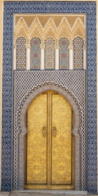 salmaserendipity:  Door to Kings palace, Fez, Morocco