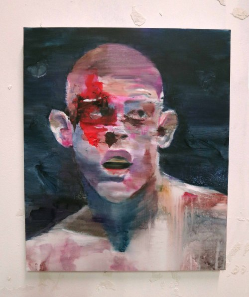 Joe Lauzon ; mixed media on canvas ; 55x46 cmLou Ros 2013
