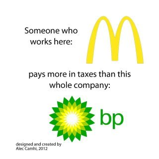 heistdoc:  Compare the taxes of BP and a a McDonald's employee.