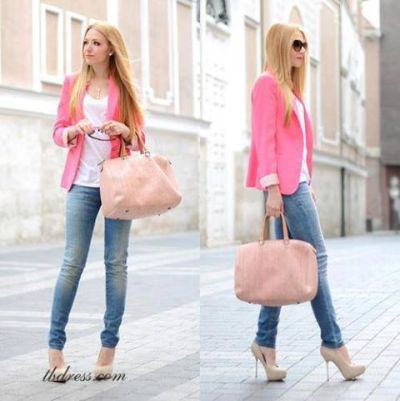 tbdress-club:  Like if you want to wear this like her Casual Korean Style Slim Coat http://bit.ly/102PIgm Top Quality Jean http://bit.ly/1065Fpt $ 17.79