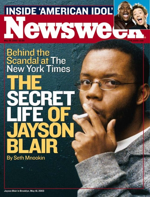 "10 Years Ago, The New York Times Announced That Jayson Blair Had Committed ""frequent acts of journalistic fraud""."