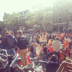 #Queensday Prinsengracht 2013 #Amsterdam
