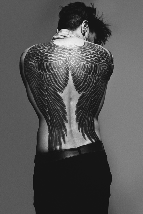 69shadesofgray:  when i get my wings they will cover my whole back like this
