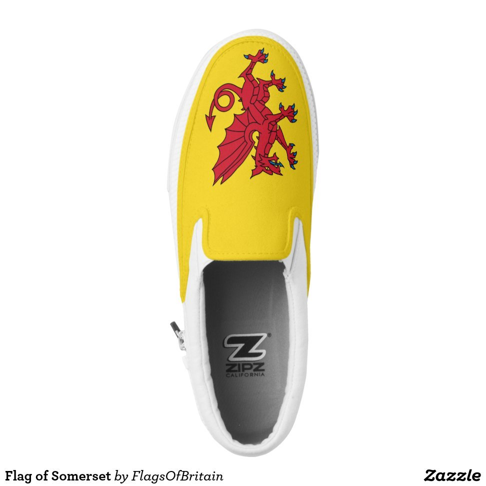 Flag of Somerset Slip-On Sneakers - Unique Canvas Shoes With Interchangeable Tops  External image  Buy This Design Here: Flag of Somerset Slip-On Sneakers Created by Fashion Designer: FlagsOfBritain Look sporty, stylish and elegant in a pair of unique custom sneakers! Each pair of custom Low Top ZIPZ Shoes is designed so you can fit your style to any wardrobe, mood, party or occasion. Fashionable sneakers for kids and adults, ZIPZ shoes give you a unique and personalized way to express yourself!Flag of Somerset Slip-On Sneakers Product Information - Unisex sizing: 4-13 Men's | 6-15 Women's - Material and fabric: Durable canvas tops, rubber soles - Buy multiple pairs! ZIPZ shoes are interchangeable, the top cover can be zipped on and off so you can easily switch up your style on the go - Rubber soles are manufactured with extra cushioned insoles and a specially designed arch support system to give your feet a comfortable and healthy fit - Quality you can trust: ZIPZ has been independently tested by SATRA for wear, use, and durability - Additional cost for designing on the tongue of the shoe - Flag of Somerset Slip-On Sneakers are printed in Santa Fe Springs, CA #sneakers#shoes#footwear#style#fashion#sports#fashionista#OOTD#streetwear#fashionblogger