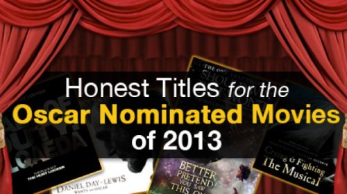 Honest Titles for 2013's Oscar Nominated Movies