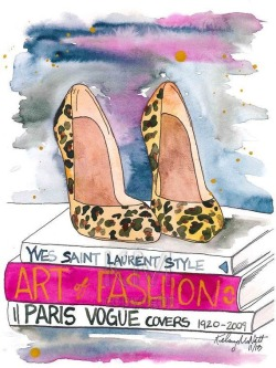 glamour painting books high heels glamorous fashion illustration Yves Saint Laurent fashion art fashion drawing watercolour illustration paris vogue shoes painting