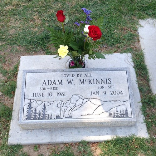 I stopped by the cemetery to visit an old friend. He was a great man, friend and mentor. I miss him. #AdamMcKinnis #lovedbyall