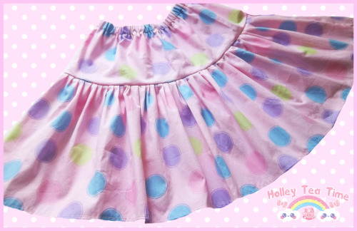 ☆ New ☆ Pastel Polka Dot Cutie Skirt - Pink $22