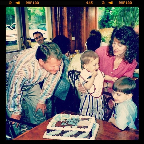 #tbt my first birthday party. Shout out to @_matthew_steven eyeing my cake #throwback #baby #firstbirthday #adorable #family