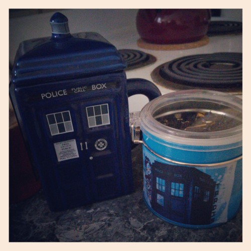 TARDIS tea in my TARDIS cup.