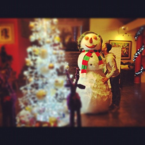 I love u snowball  (at Anggrek Hall Klub Bunga Resort)