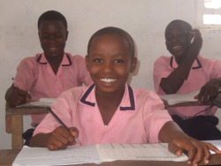 "A Child's Vision for Africa: ""I am in grade 6 at Felecia Mission School. I want to be a medical doctor. I want Africa to be a united country with good roads, hospitals, schools and enough food for everyone."" —Edwin, age 10, enrolled in ChildFund's programs in Liberia"