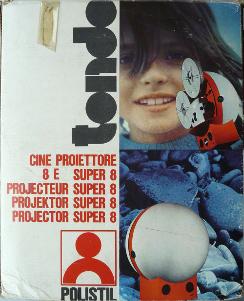 Super8 projector Tondo CT1 designed by G. Lurani Cernuschi for Polistil Italy 1970  (par bb.plastics)