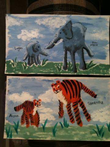 Made these handprint animals for my son & I, and a friend of mine and her daughter :)